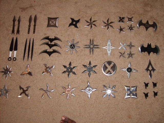 Awesome shuriken collections. Perfect for killing zombies quickly and quietly. You will need practice of course.