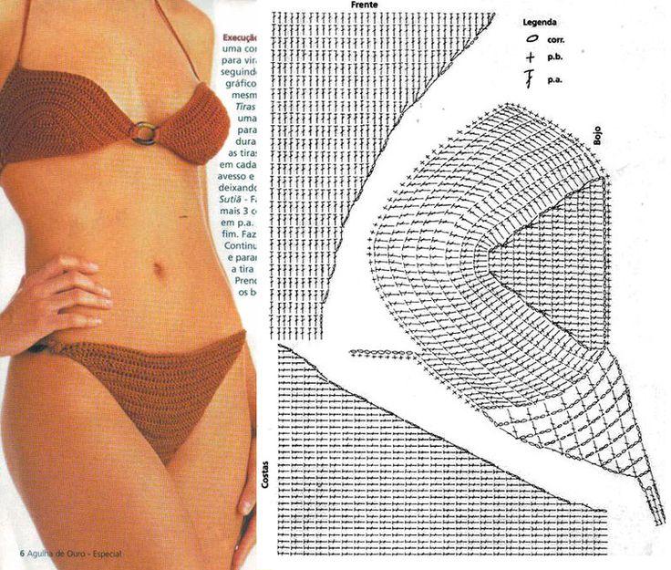 Patrones/esquemas de crochet. Bikini.