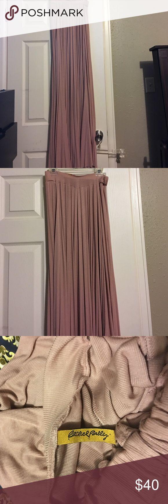 Rachel Pally Maxi Skirt NWOT ribbed maxi skirt. Color is like a rose/mauve very cute. Rachel Pally Skirts Maxi