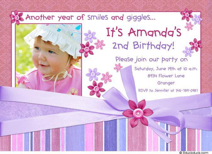 Birthday Invitations Cards Fresh Birthday Invitations Cards 38 For You 2nd Birthday Invitations Birthday Invitation Card Template Baby Birthday Invitation Card