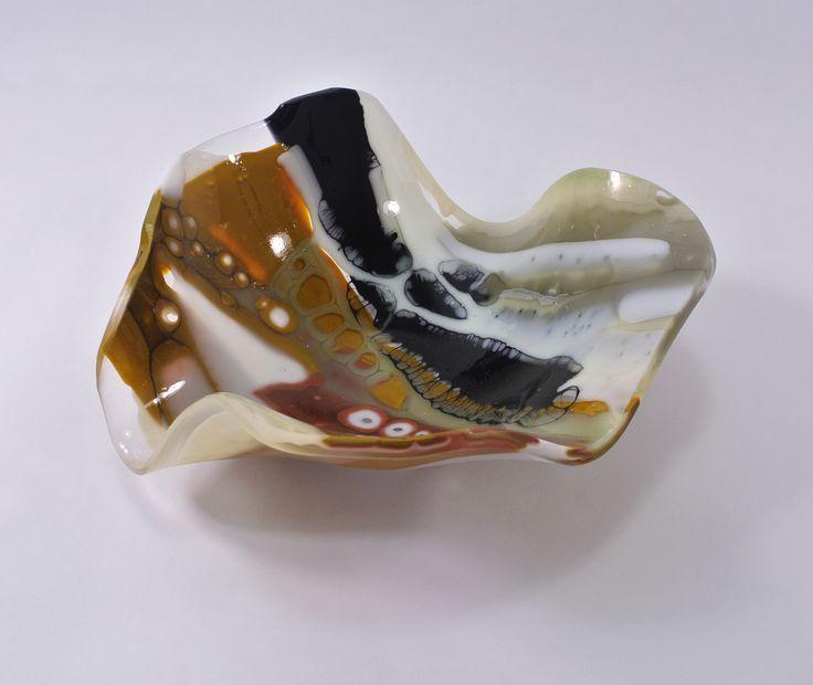 Siju Glass Sottobosco 4 Contemporary Glass bowl 24 dia x 9h