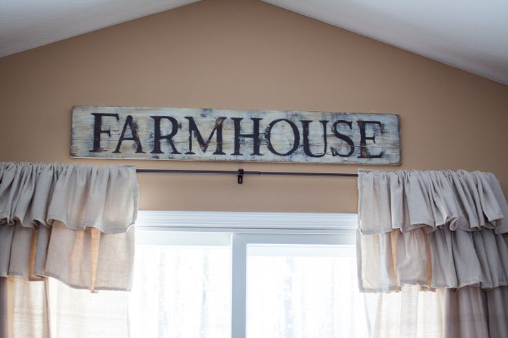 DIY Farmhouse sign. Check out the blog to see how to make one yourself.