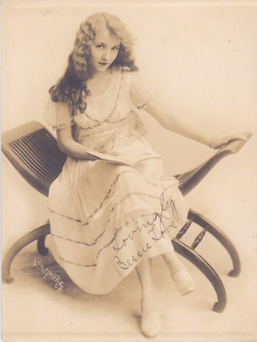 """""""Lovingly, Bessie Love"""" Bessie Love was an American motion picture actress who achieved prominence mainly in the silent films and early talkies."""