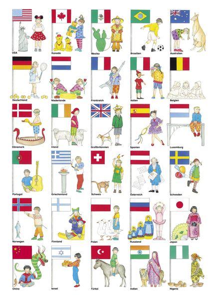 Flaggen+Poster+Kinder+aus+aller+Welt+von+miko+miko+++auf+DaWanda.com
