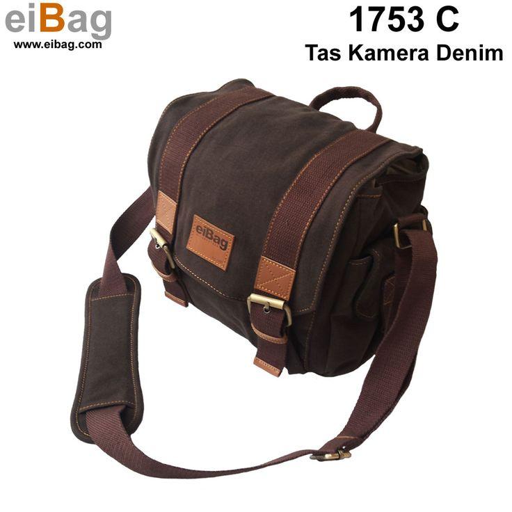 Tas kamera denim Bandung selempang warna coklat sistim insert case, ada tempat untuk menyimpan tablet 10 INCH, dan free cover bag dalam paket penjualannya