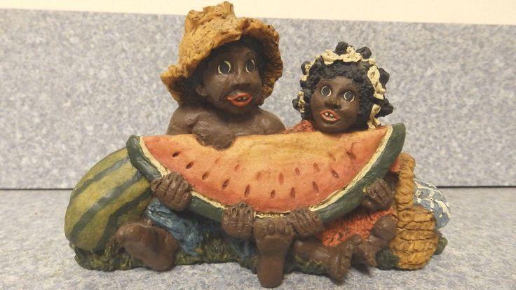 "On EBAY for RIKKI'S REFUGE through Saturday 5/30/15 ""black americana figurine by June McKenna. Boy and girl eating watermelon"" VIEW & BID HERE: http://www.ebay.com/itm/black-americana-figurine-by-June-McKenna-Boy-and-girl-eating-watermelon-/321763038755?pt=LH_DefaultDomain_0&hash=item4aea925623 100% proceeds benefits RIKKI'S REFUGE!"