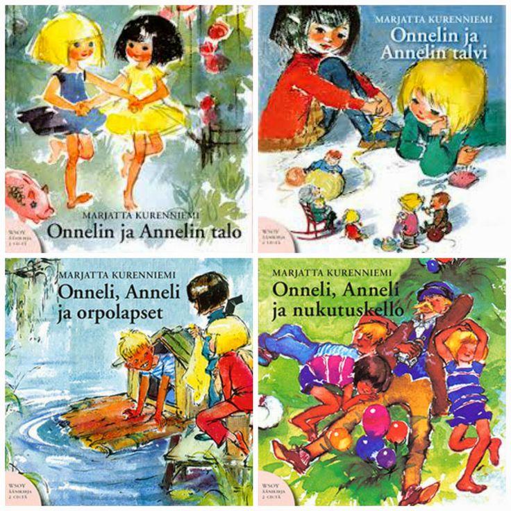 Onneli ja Anneli books. Covers by Maija Karma.
