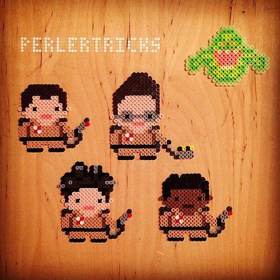 Ghost Hunters Perler Bead Character Magnets  8 bit by PerlerTricks