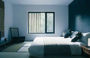 peinture chambre couleur gris et noir ambiance japonaise