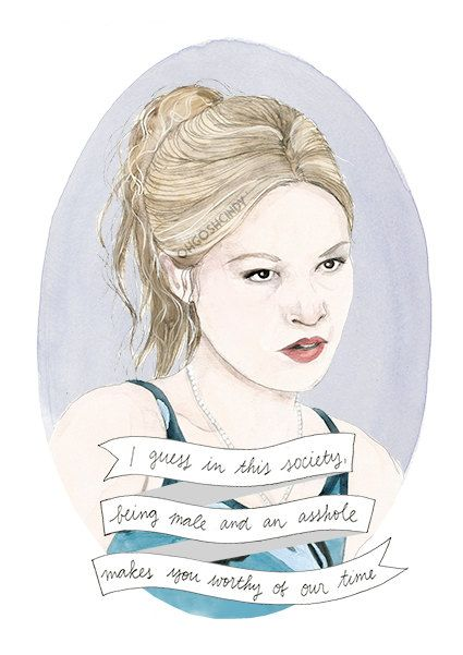 Kat Stratford 10 Things I Hate About You portrait print illustration