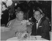 Sinatra, pictured here with Eleanor Roosevelt in 1960, was an ardent supporter of the Democratic Party until 1970.