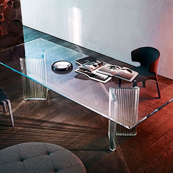 Gallotti U0026 Radice Supercalif, Designer Glass Table In 15 Mm Transparent  Tempered Glass. Available