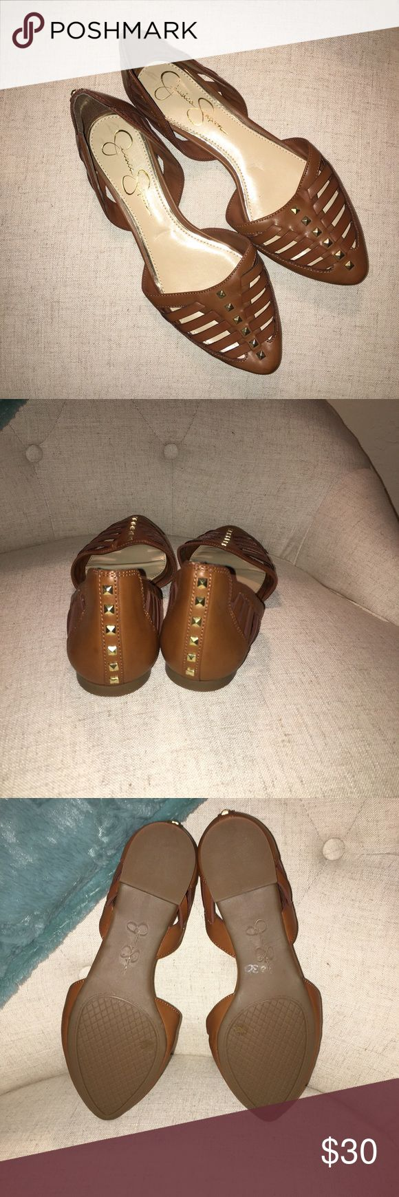 Jessica Simpson flats Never worn size 7.5 studded Jessica Simpson flats Jessica Simpson Shoes Flats & Loafers