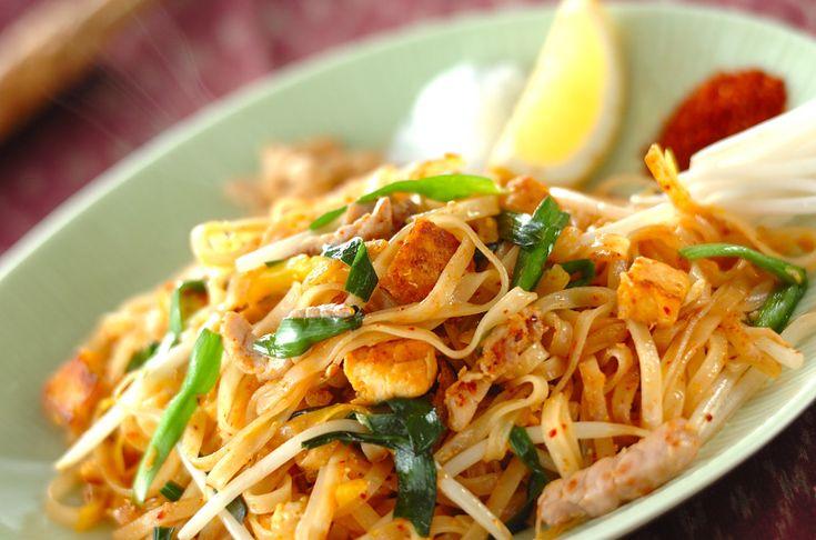 甘み・辛み・酸味が合わさった奥深い味わいですパッタイ[エスニック料理/麺料理(フォー等)]2011.05.09公開のレシピです。