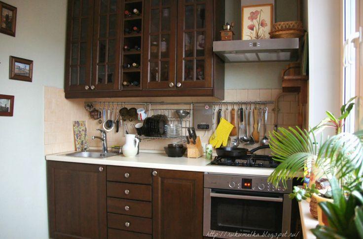Наша кухня. Гарнитур дубовый. Икеа.