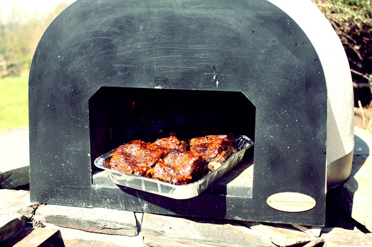 Whopping great beef short ribs slowly smoked in Jamie Olivers Wood Fired Oven!