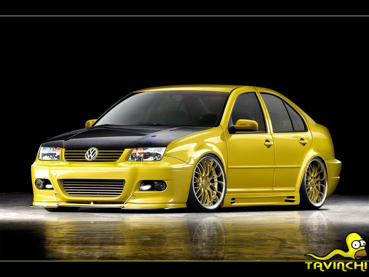 mkiv jetta sweet bumper  splitter lose  yellow   ridicuous slammed stance