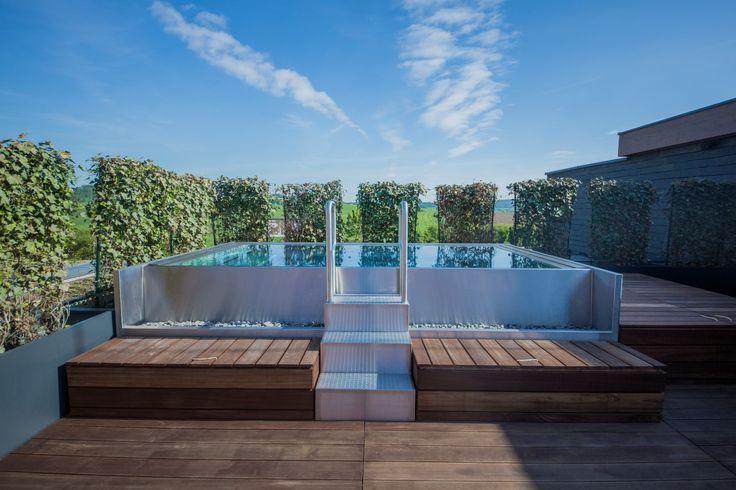Big stainless steel spa Imaginox for 10 people