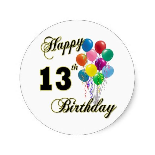 Happy 13th Birthday Gifts and Birthday Apparel
