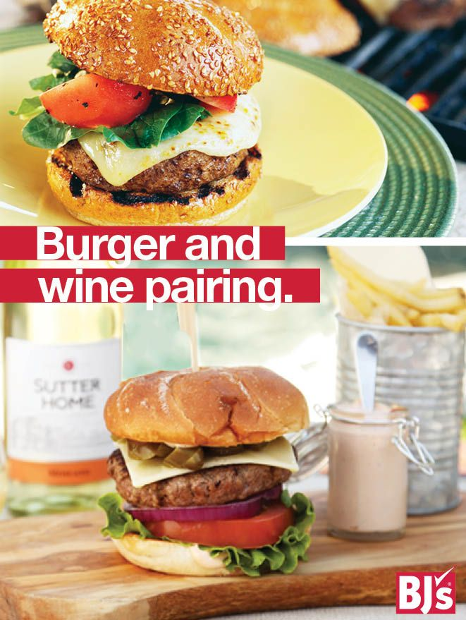 Build a Better Burger - Shake up dinner with these gourmet burger recipes. They pair perfectly with Sutter Home® wines. http://stocked.bjs.com/food/burgers-and-wine-recipes-kick-grilling-season
