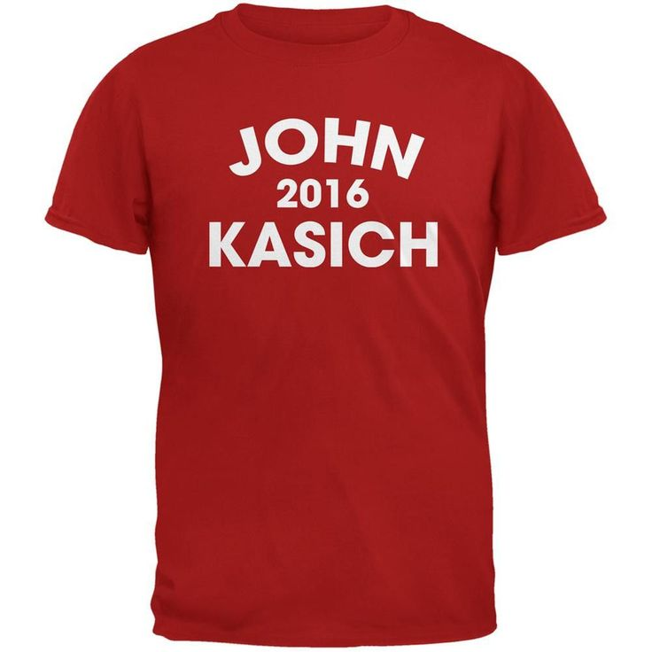 Election 2016 John Kasich Varsity Red Adult T-Shirt
