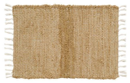 """Our Burlap Natural Chindi Rug 20x30"""" is a good way to pull a room together and create a warm and inviting atmosphere. This rug comes in several different sizes for your convenience. https://www.primitivestarquiltshop.com/search?type=product&q=burlap+natural+chindi+rug #primitivecountryrugs"""
