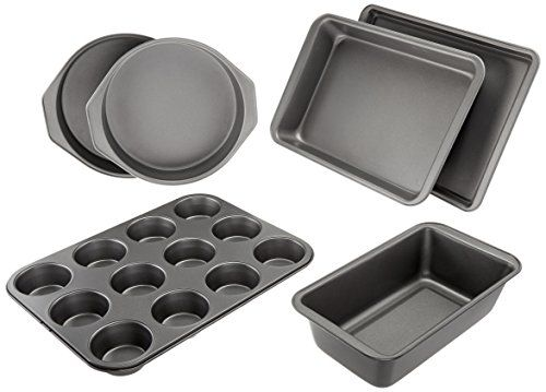 Amazonbasics 6 Piece Nonstick Bakeware Set Oven Bakeware