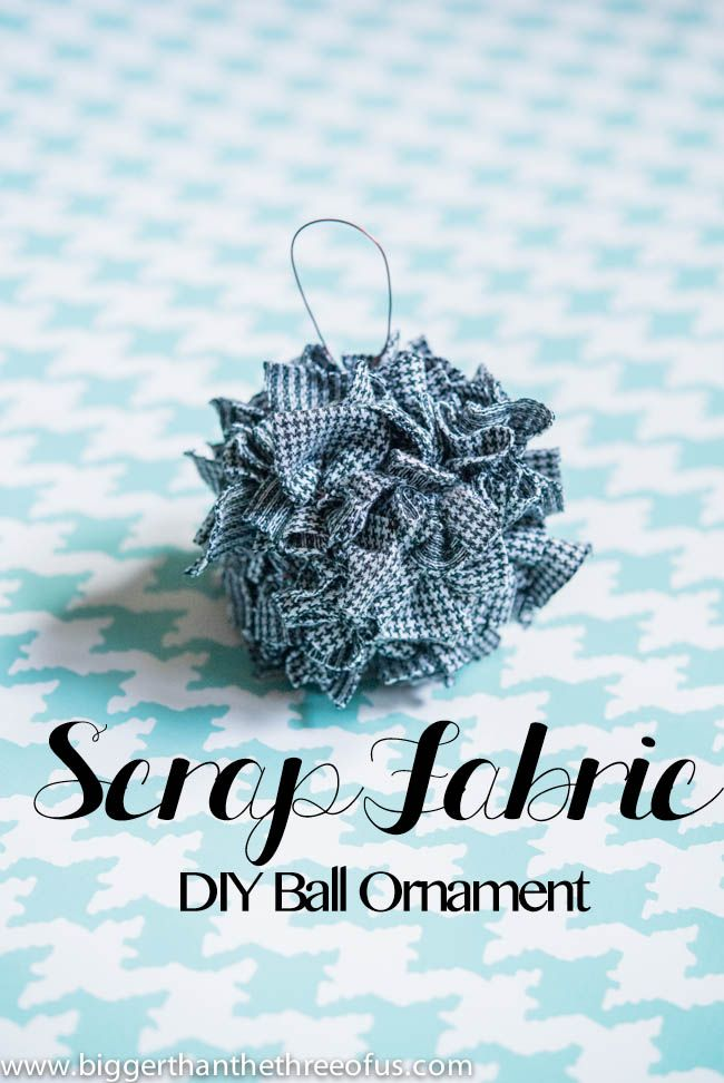 Ornament Tutorial for a Scrap Fabric Ball Ornament