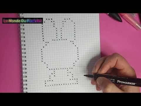 Comment Dessiner Un Lapin De Pâques Mignon Pixel Art