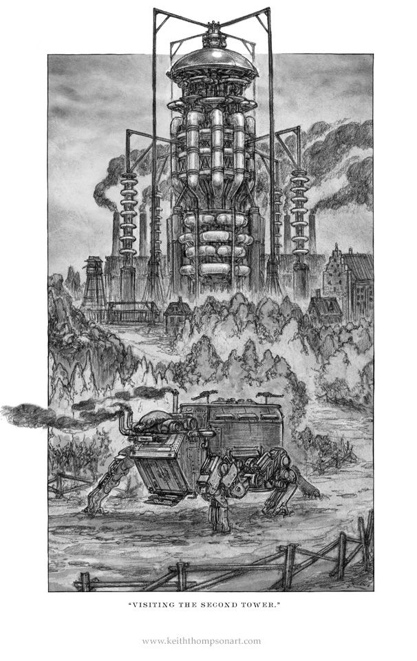 Goliath: Tesla Tower. Illustrated by Keith Thompson