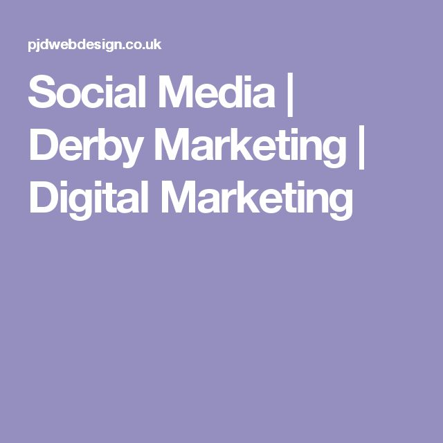 Social Media | Derby Marketing | Digital Marketing