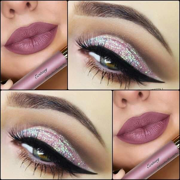 Soft but bold pink look