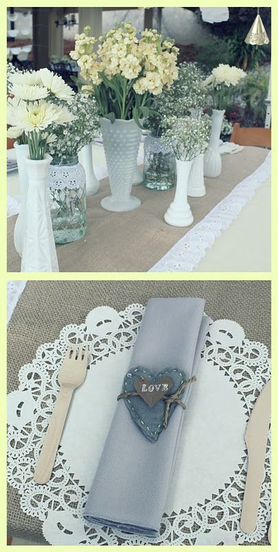 Vintage Grey & Yellow Bridal Shower | | Kara's Party IdeasKara's Party Ideas