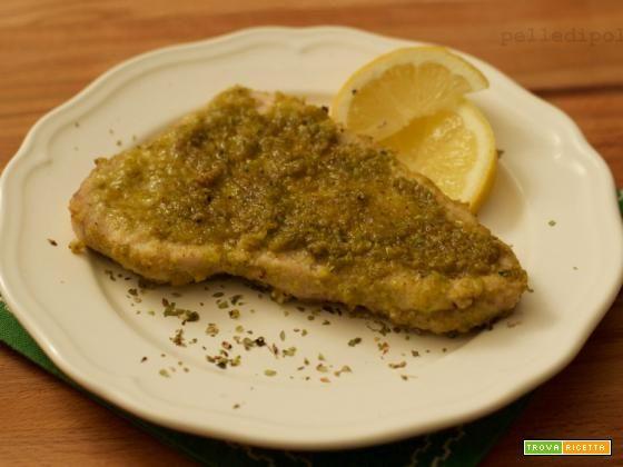 Pesce spada al forno gratinato ai pistacchi  #ricette #food #recipes