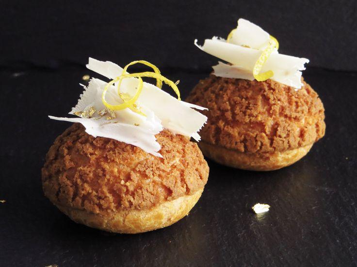 Cream puffs med citron og hvid chokolade