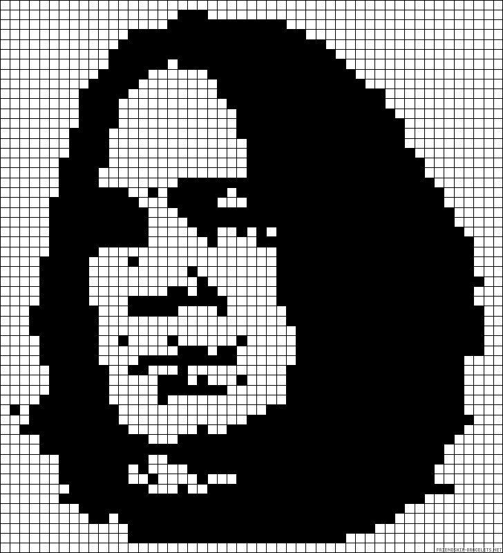 Severus Snape  Harry Potter perler bead pattern to use for crochet pixel blanket.