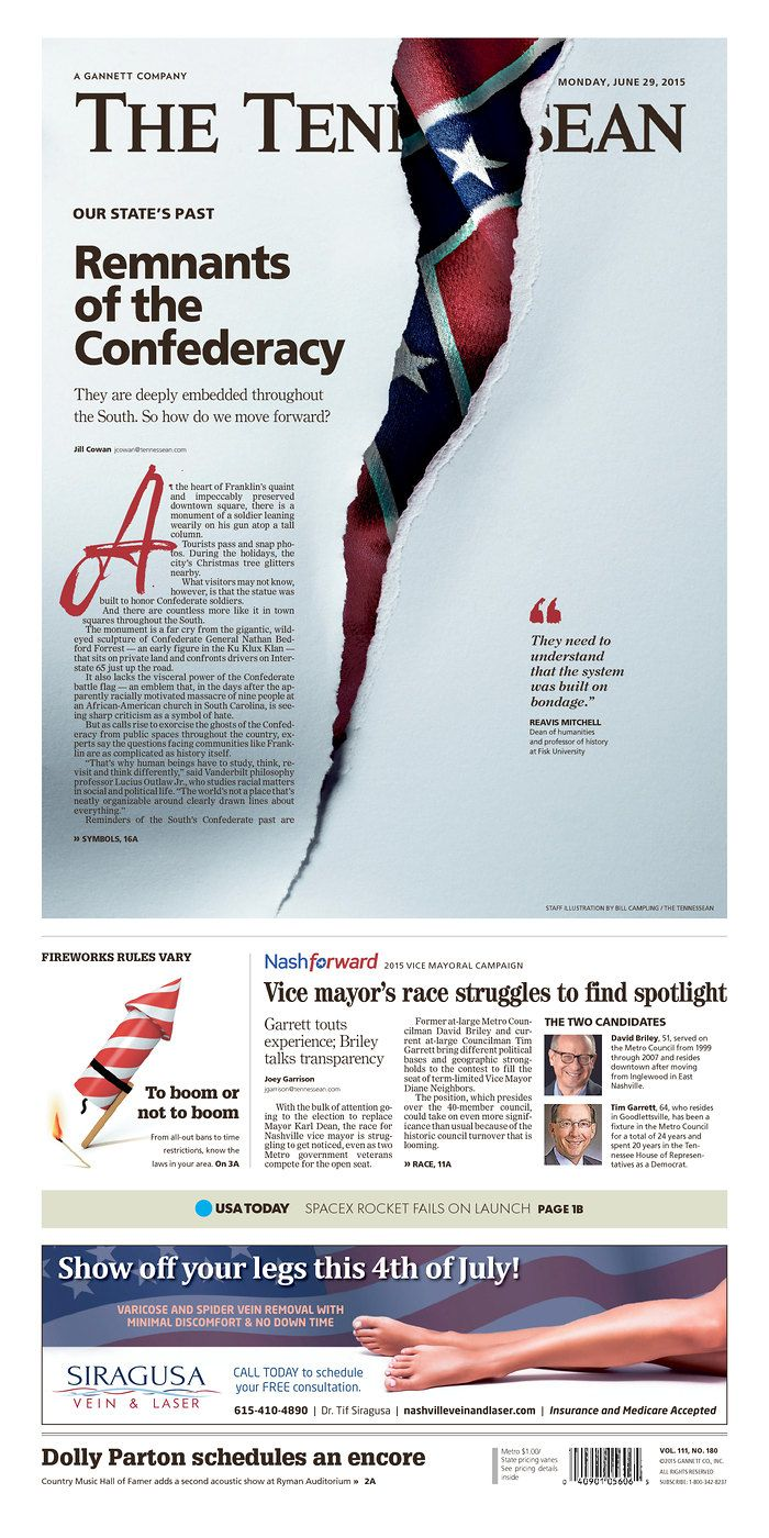 The Tennessean for June 29, 2015, via Today's Front Pages | Newseum #newsdesign #newspapers