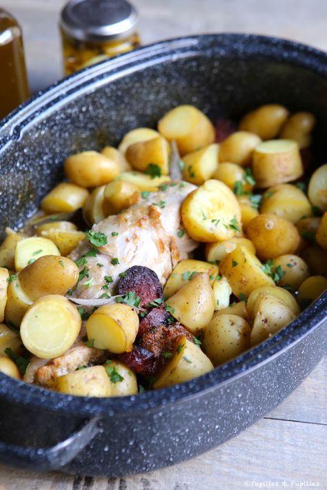 Filet mignon au chorizo et pommes de terre en cocotte »