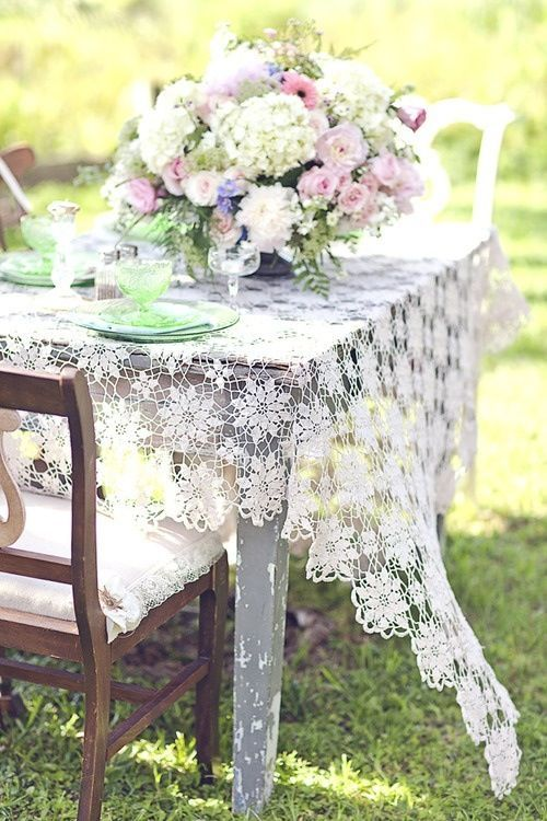 Lovely lace tablecloth