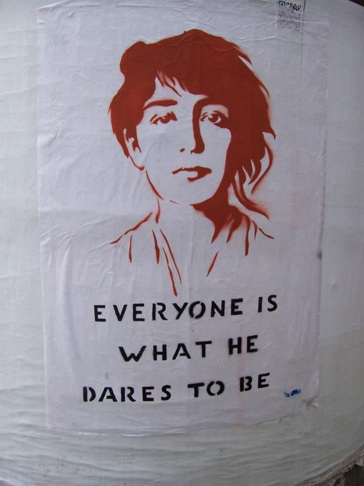 #streetart : Camille Claudel by Louva Must Die (see also: https://www.youtube.com/watch?v=szEoLQMotHw