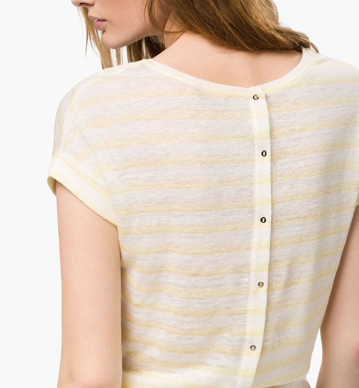 Massimo Dutti. Stripes. Subtle. Yellow.