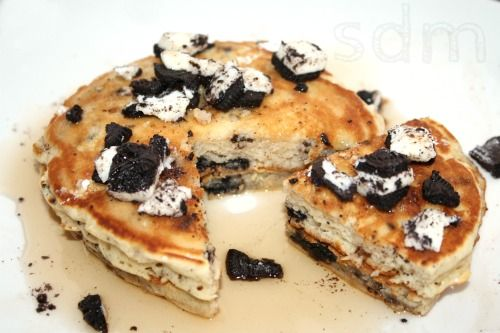 oreo pancake recipe-these were super yummy...hubby even liked them so that means they weren't too sweet.