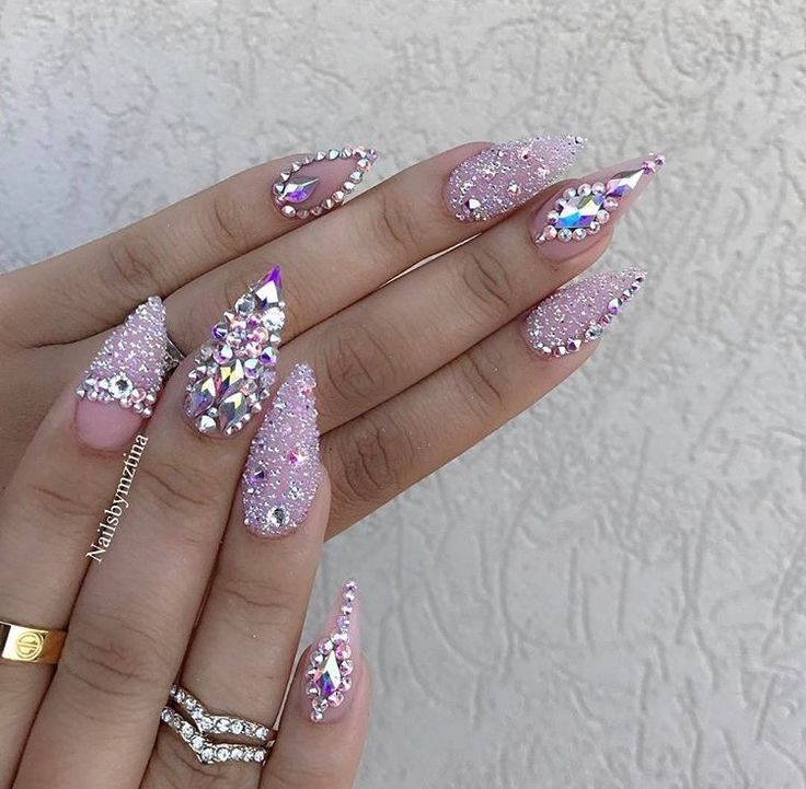 Best 25+ Bling acrylic nails ideas on Pinterest | Bling nails, Coffin nail  designs and Nail designs bling - Best 25+ Bling Acrylic Nails Ideas On Pinterest Bling Nails