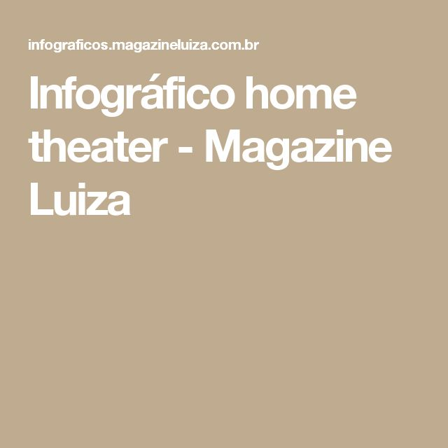 Infográfico home theater - Magazine Luiza