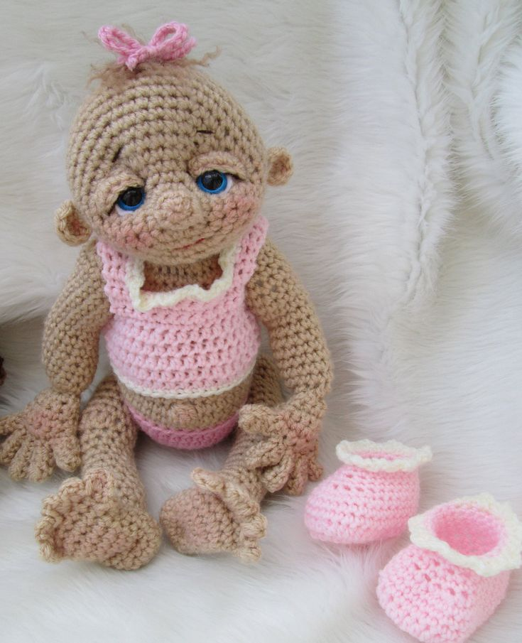 So Cute Baby Doll Crochet Pattern with Teddy Bear Hat, Toy and Cocoon. $5.95, via Etsy.