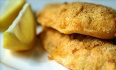 Easy Low-Fat Oven Fried Catfish from Food.com: The catfish has a nice crunchy coating, just as good as pan-fried without all the greasiness! I like to serve this with Southern dishes like baked sweet potatoes and collard greens.