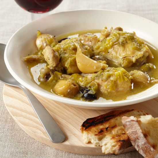 Slow Cooker Chicken with 40 Cloves of Garlic | Recipe ...