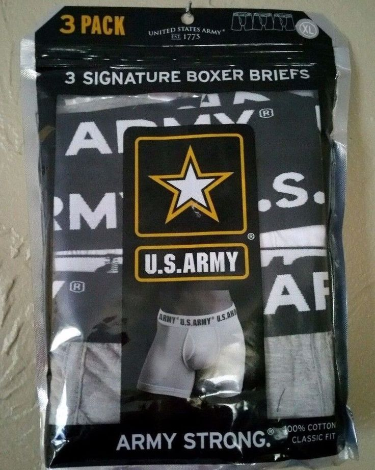 US Army Boxer Briefs XXL 3 Pack Gray Black White Army Strong #USARMY #BoxerBrief