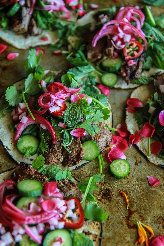 Lebanese Harrisa Steak Tacos from HeatherChristo.com