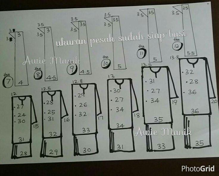 Ukuran kikek & pesak baju sekolah by noraini yaacob